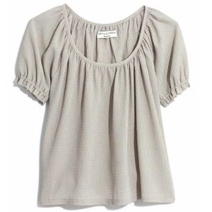 Madewell Texture & Thread Peasant Top